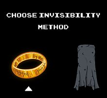 Choose invisibility method by Coconutman