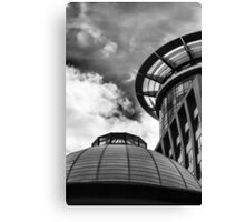 Looking up - Alien Round Structure Canvas Print