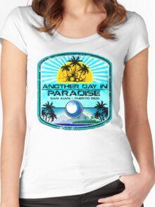 San Juan Beach Women's Fitted Scoop T-Shirt