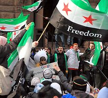 Syrian Demonstrators by Valentino Visentini