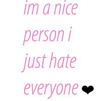 "candy pink ""i just hate everyone"" iPhone 5s/5 phone case by Schmo"