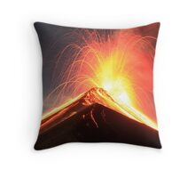 Fuego Erupts on a Moonlit Night Throw Pillow
