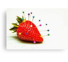 Strawberry Pins Canvas Print