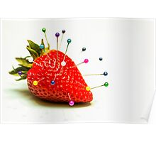 Strawberry Pins Poster
