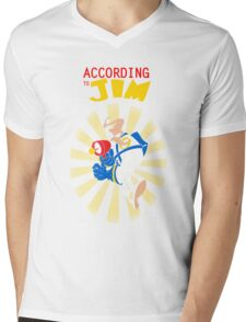 According to Jim Mens V-Neck T-Shirt