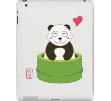 Cute Panda with Bamboo Bathtub  iPad Case/Skin