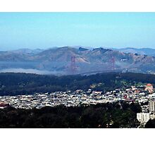 GOLDEN GATE BRIDGE FROM TWIN PEAKS SAN FRANCISCO Photographic Print