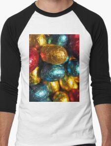 Colorful Easter Men's Baseball ¾ T-Shirt