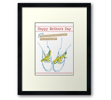Mother's Day: Shoe Laces Framed Print