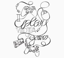 I Play Vidja Games (Black) by Binarycore