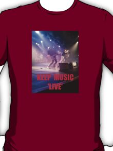 Music Keep Music 'Live' T-Shirt