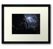 Gandalf The Grey.  Framed Print