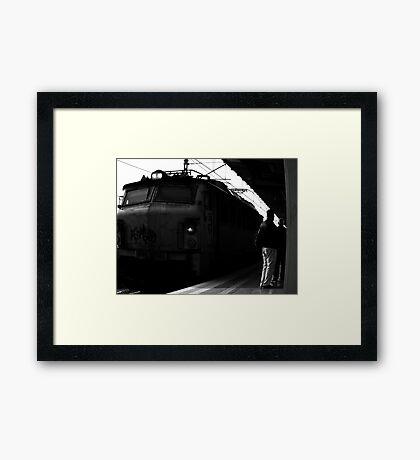 Freight train ... Framed Print