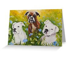 Dogs painting fine art by Ekaterina Chernova Greeting Card