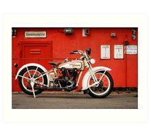 Harley-Davidson JD 1927 Art Print