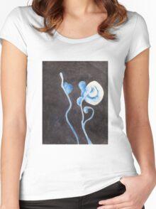 Moon Flower Women's Fitted Scoop T-Shirt