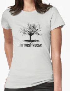 Nature Rocks Black Tree Silhouette  T-Shirt
