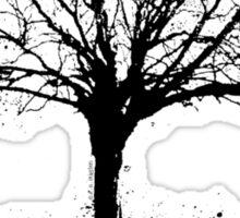 Nature Rocks Black Tree Silhouette  Sticker