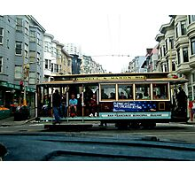 SAN FRANCISCO CABLE CAR IN NORTH BEACH Photographic Print
