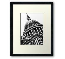 Distinguished Dome (BW) Framed Print