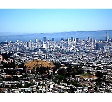 VIEW FROM TWIN PEAKS, SAN FRANCISCO Photographic Print