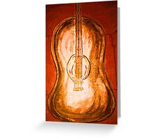 Antique Guitar Greeting Card