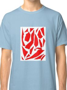 Collage red white Classic T-Shirt