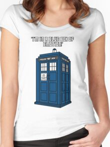 I'm in a Blue Box of Emotion Women's Fitted Scoop T-Shirt