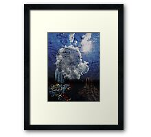 ©DA Chasing Dragons On Fractal City IA Framed Print