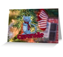 Christmas with Cat-itude! Greeting Card
