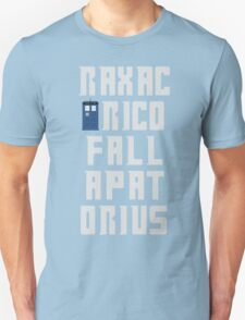 Doctor Who Tee - Raxacoricofallapatorius T-Shirt
