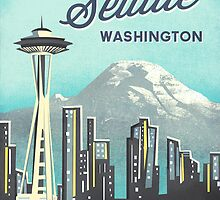 Seattle Space Needle by Jenny Tiffany