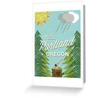 Visit Portland OR Greeting Card