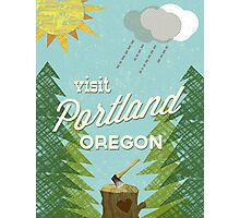 Visit Portland OR Photographic Print
