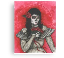 Chelle of the Dead - dia de los muertos Canvas Print