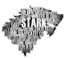 House Stark Words by andreadressig