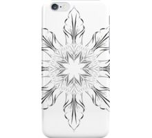 abstract flowers lily floral drawing graphic design iPhone Case/Skin