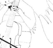 Dragon playing the Cello Sticker