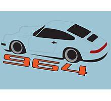 Porsche Gulf Blue 964 Poster Photographic Print