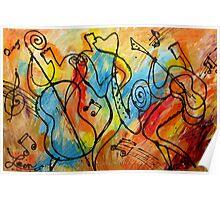 Folk Jazz Poster