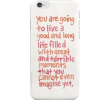 john green quote iPhone Case/Skin