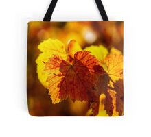 Colorful golden leaves of grape, Alsace Tote Bag