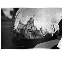 A Reflection of St Paul's Cathedral Poster