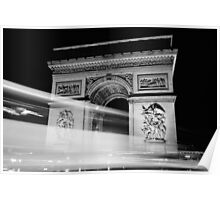 Arc de Triumph at Night Poster