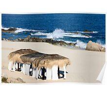 Seaside Cabanas Poster