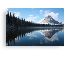 Sinopah Mountain after a Snowstorm Canvas Print