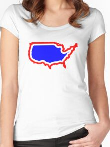USA Women's Fitted Scoop T-Shirt