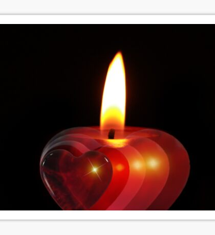 Candle heart 2 Sticker