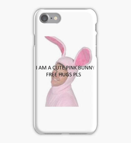 Pink bunny iPhone Case/Skin