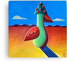 Tree-Hat Bird Canvas Print